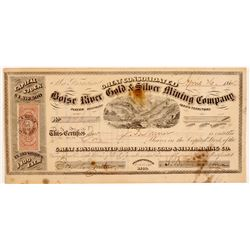 Great Cons. Boise River Gold & Silver Mining Co. Stock Certificate   (107074)