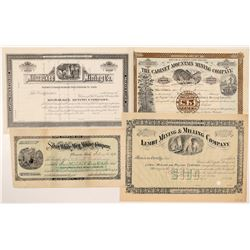 Four Different Idaho Mining Stock Certificates   (104390)
