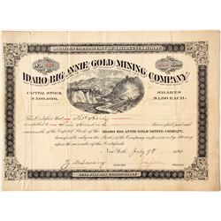 Idaho Big Annie Mining Company Stock   (86014)