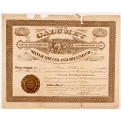 Calumet Silver Mining & Milling Co. Stock Certificate   (104291)