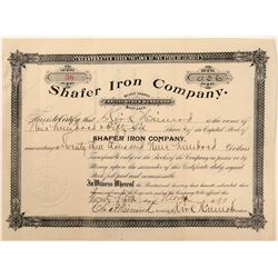 Shafer Iron Stock   (106343)