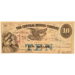 Central Mining Co Check   (106335)
