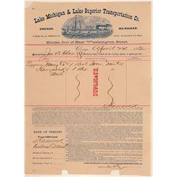 Mining Bill head/ Quincy Mining Company.   (105035)