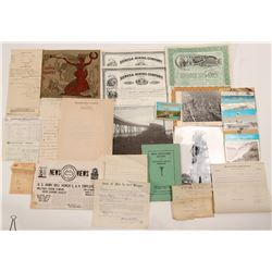 Mining Ephemera / Michigan / 8 Items.   (105042)