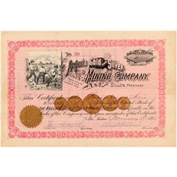 Argenta Gold & Silver Mining Co. Stock Certificate   (104418)