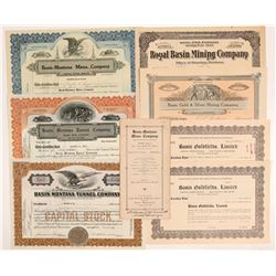 Basin, Montana Mining Stock Certificates & One Prospectus   (107113)