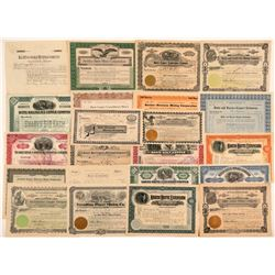 "22 ""Butte"" Mining Stock Certificates   (107109)"