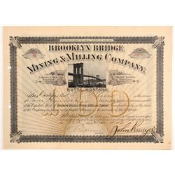 Brooklyn Bridge Mining & Milling Co. Stock Certificate   (107115)