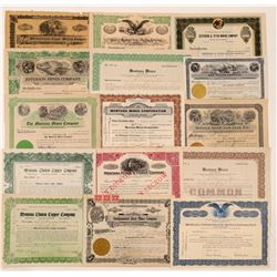15 Different Helena-area, Montana Mining Stock Certificates   (107111)