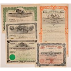 Virginia City, Montana Mining Stock Certificates   (107116)