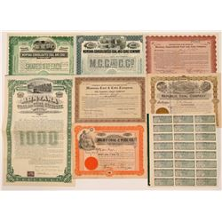 Montana Coal Mining Stock Certificates   (107246)