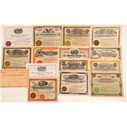 Montana Mining Stock Certificate Collection   (107317)