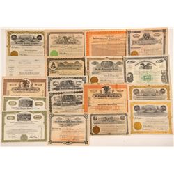 Montana Mining Stock Certificate Collection   (107316)