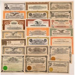 Montana Mining Stock Certificate Collection   (107117)