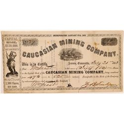 Caucasian Mining Company Stock Certificate   (107058)