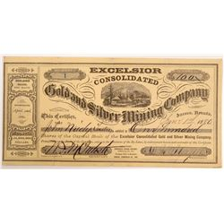 Excelsior Consolidated Gold and Silver Mining Company Stock   (103585)