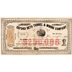 Oxford Beta Tunnel & Mining Company Stock Certificate   (107068)
