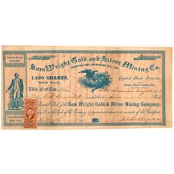 Sam Wright Gold & Silver Mining Co. Stock Certificate   (107060)