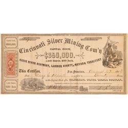 Cincinnati Silver Mining Stock   (106613)