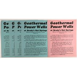 Broadsides for Nevada Geothermal Power Wells   (107341)