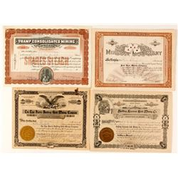 Bullfrog, Nevada Mining Stock Certificate Collection   (58403)