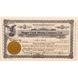 Maggie Creek Mining Company, Ltd. Stock Certificate   (107332)