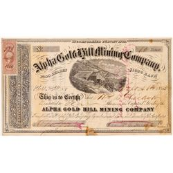Alpha Gold Hill Mining Company Stock   (108061)