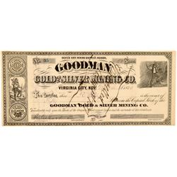 Goodman Gold & Silver Mining Co. Stock Certificate   (104457)