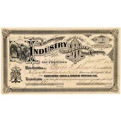 Industrial Gold & Silver Mining Co. Stock Certificate -- Number 1   (107065)