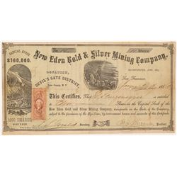 New Eden Gold & Silver Mining Company Stock Cert.   (106646)