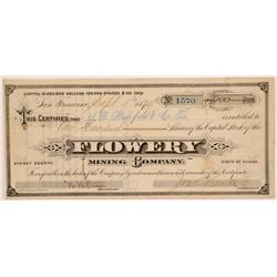 Flowery Mining Company Stock Certificate   (107233)