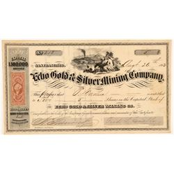 Echo Gold & Silver Mining Company Stock Certificate   (107044)