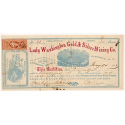 Lady Washington Gold & Silver Mining Co. Stock Certificate   (107049)