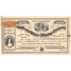 Oneoto Consolidated Gold & Silver Mining Co. Stock Certificate   (107042)