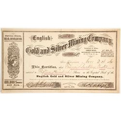 English Gold and Silver Mining Company Stock   (88126)