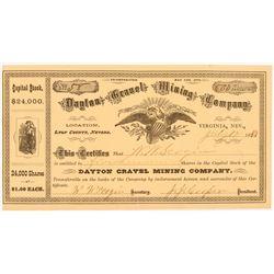 Dayton Gravel Mining Company Stock Certificate   (104368)