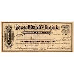 Consolidated Virginia Mining Company Stock Certificate   (104314)