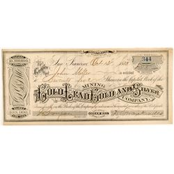 Gold Lead Gold & Silver Mining Co. Stock Certificate   (104458)