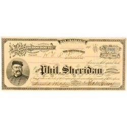 Phil. Sheridan Gold & Silver Mining Co. Stock Certificate   (104343)