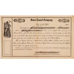 Sutro Tunnel Company early Stock Certificate   (108065)