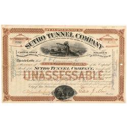 Sutro Tunnel Company Stock Certificate   (103505)