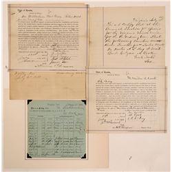 Virginia City Miner's Union Documents    (107395)