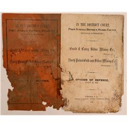 Gould & Curry Mine vs. North Potosi Mine--1864 Court Publication   (107396)
