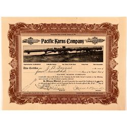 Pacific Karns Co. Stock Certificate (Mine Drill)   (107331)