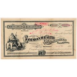 Commonwealth Consolidated Mining Co. Stock Certificate   (107063)