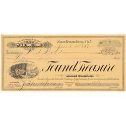 Found Treasure Mining Company Stock Certificate   (107008)