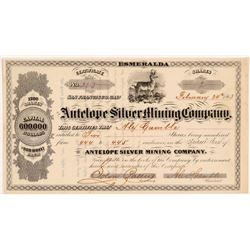 Antelope Silver Mining Company Stock - Mark Twain Related   (108063)