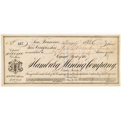 Hamburg Mining Company Stock Certificate   (104459)