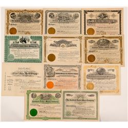 Ten Different Goldfield Mining Stock Certificates   (107087)