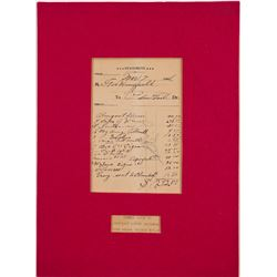 Wingfield Receipt for Celebration dinner, 1906   (106464)
